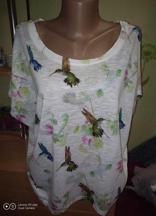Воздушная прелесть фуболочка-блуза-оверсайз--m-l-xl-