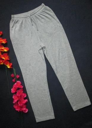 Трендовые  велюровые бархатные спортивные брюки серый меланж в...