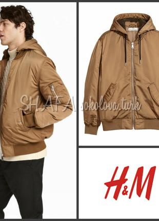 Куртка деми утеплённый бомбер горчичного цвета от h&m