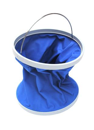 Складное ведро Foldaway Bucket Blue для мойки автомобиля транс...
