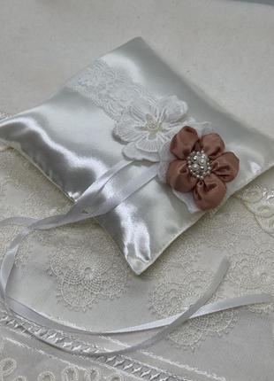 Новая свадебная подушечка для колец
