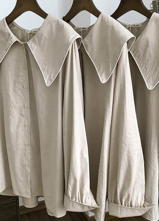 Женская рубашка широкий воротник