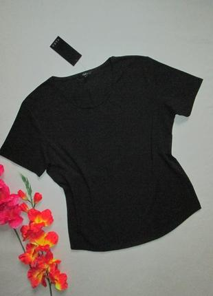 Стрейчевая чёрная базовая футболка tara