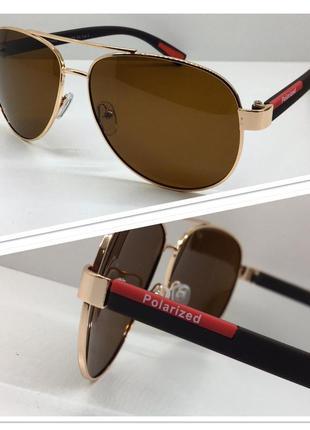 Мужские солнцезащитные очки авиаторы поляризованные линзы