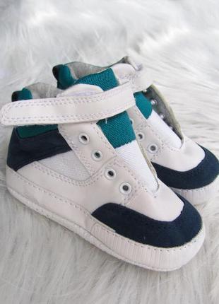 Стильные  пинетки - кеды кроссовки ботинки mothercare
