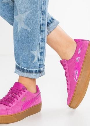 Puma vikky platform кеды обувь кроссовки платформа пума женские
