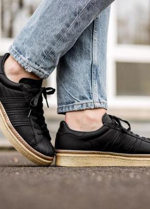 Adidas originals superstar кожа 36  кроссовки 37