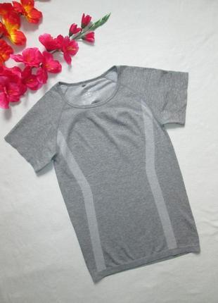 Спортивная  термо футболка серый меланж atmosphere workout