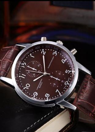 Новые унисекс кожаные кварцевые наручные часы с Циферблатом из не