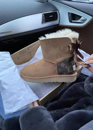 Шикарные угги ugg classic mini bailey bow