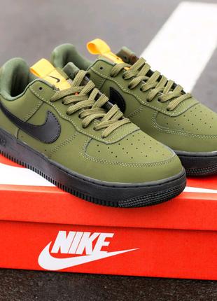 Кроссовки мужские Nike Air Force Dark Haki. Артикул 387i.