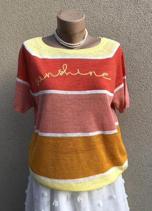 Трикотаж блуза, футболка,кофточка,лён,большой размер