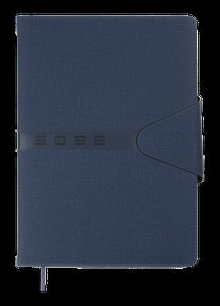 Щоденник датований 2022 NAVIGATOR, A4, синій, штучна шкіра/пор...