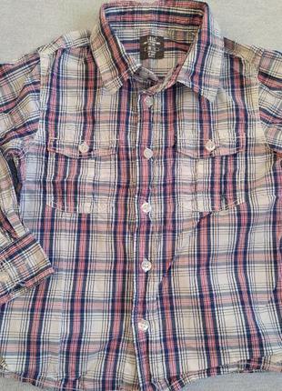 Рубашка сорочка на мальчика 110 h&m logg