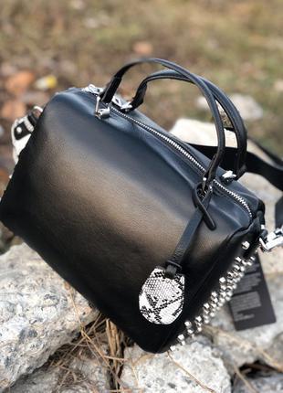 Женская кожаная сумка. Кожаный клатч. кроссбоди. Polina&Eiterou