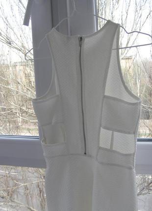 Divided by h&m актуальное платье белого цвета 36-размер