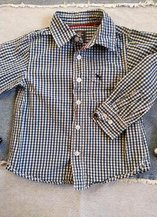 Рубашка сорочка в клетку на мальчика 104