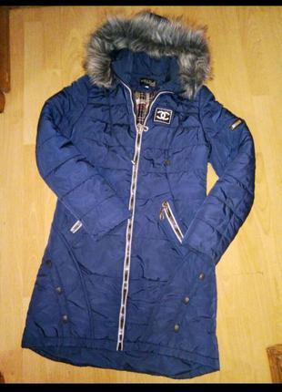 Пуховик пальто женское зима 46р