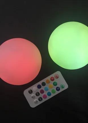Плавающий светодиодный светильник на батарейках с пультом (2 шт)