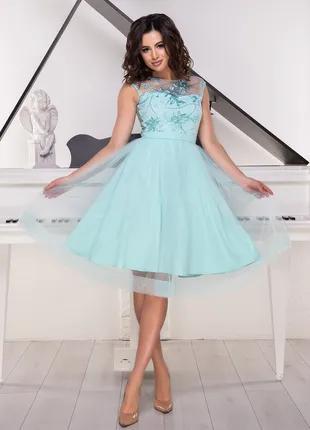 Вечірнє, випускне короткое плаття, розмір М
