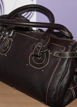 Кожаная итальянская сумка artigiano