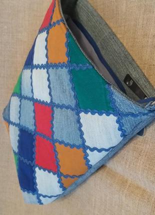 Джинсовая сумка-планшет. ручная работа.