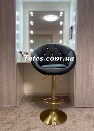 Барный стул НС8516CN черный с золотом