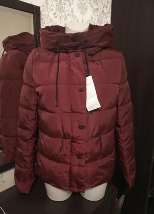 Демисезонная курточка винного цвета