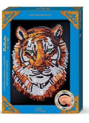 Мозаика из пайеток Тигр