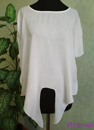 Блуза блузочка белая. италия.