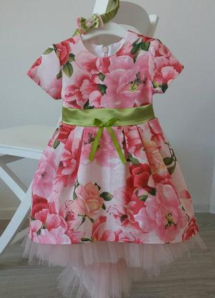 Нарядное красивое платье для девочки.