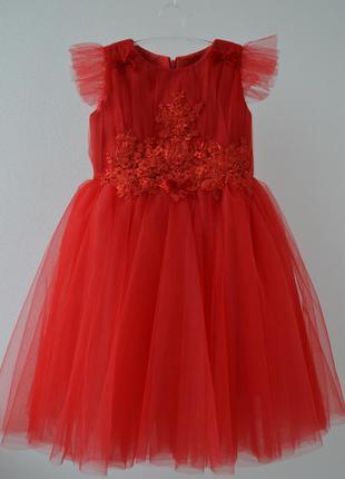 Шикарное красное платье для вашей девочки