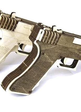 Деревянный конструктор пистолет Glock 19 Модель пистолета дерево