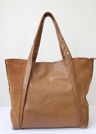 Кожаная сумка шоппер river island
