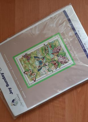 Набор для вышивки крестиком Лес бабочек Китайская копия