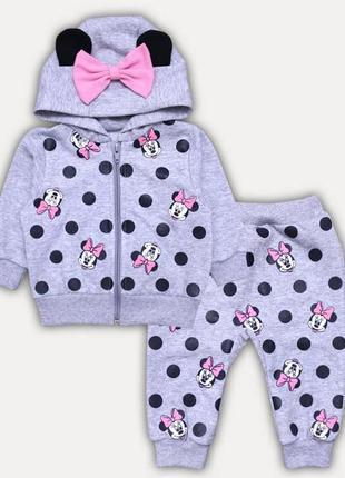 Красивый костюмчик с минни для малышек