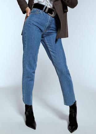 Облегающие джинсы прямого кроя от zara