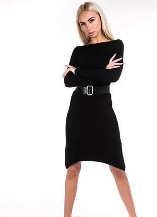 Красивое вязаное платье для женщины