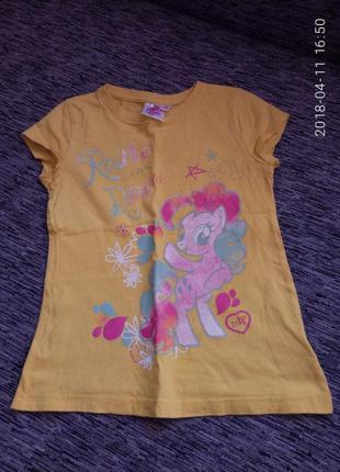 Очень красивая футболка с пони на рост 122