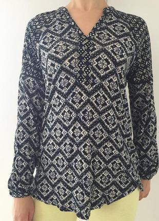 Блузка, кофта, блуза, свободная блуза, легкая блуза в принт.
