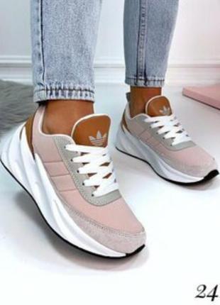Кроссовки  adidas sharks boost натуральная замша  кросівки кожа