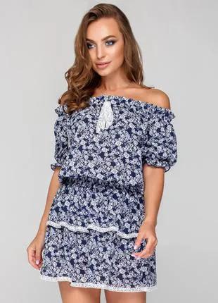 Летнее женское платье, размер универсальный