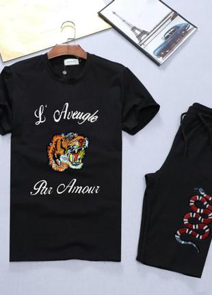 Комплект футболка + шорты gucci