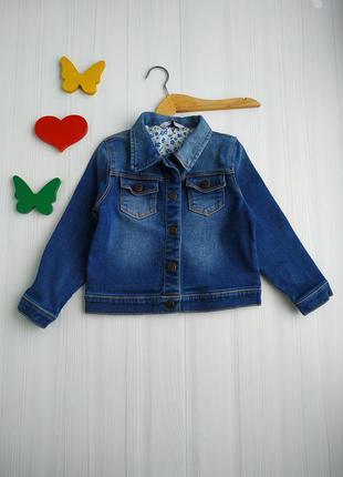 3-4 года, джинсовая куртка,george