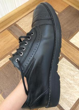 Кожанные туфли для подростка