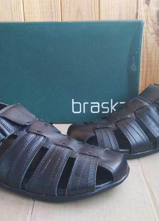 Новые полностью кожаные удобные сандалии braska оригинал в кор...