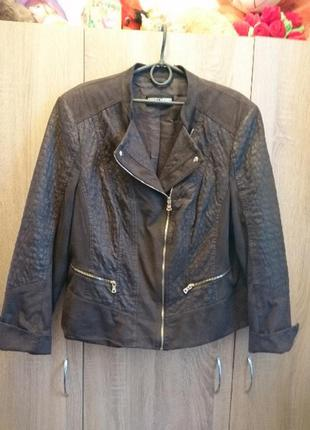 Куртка косуха женская коричневая