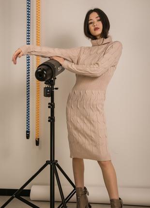 Вязаное платье миди от украинского производителя