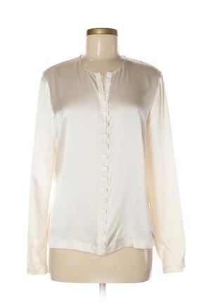 Идеальная классическая шелковая блуза люксового бренда worth