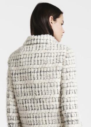 Шерстяной пиджак люксового бренда paule ka / твидовый жакет